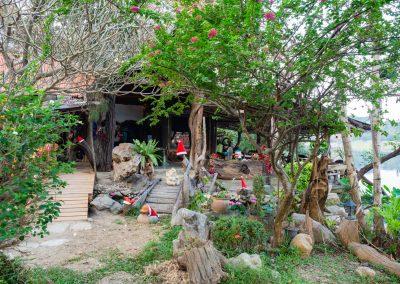 Le restaurant de Baan Mama à Noël