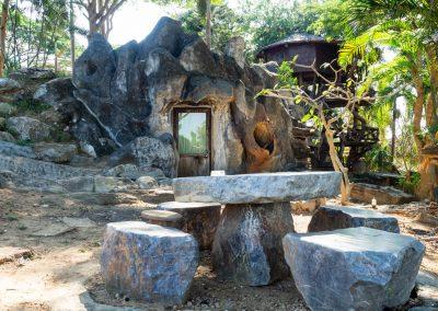 Vue extérieur de la Chambre Grotte 4 personnes